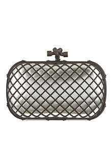 BOTTEGA VENETA Grid metallic clutch