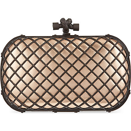 BOTTEGA VENETA Grid metallic clutch (Rame