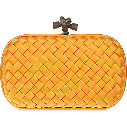BOTTEGA VENETA Woven satin knot clutch (Sun