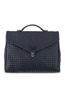 BOTTEGA VENETA Woven top handle briefcase