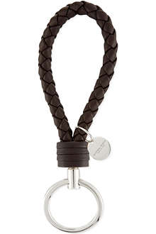 BOTTEGA VENETA Woven leather keyring fob