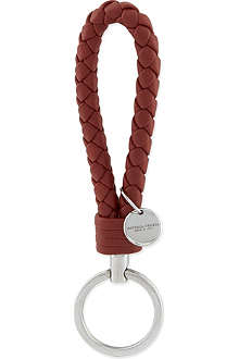 BOTTEGA VENETA Woven leather keyring