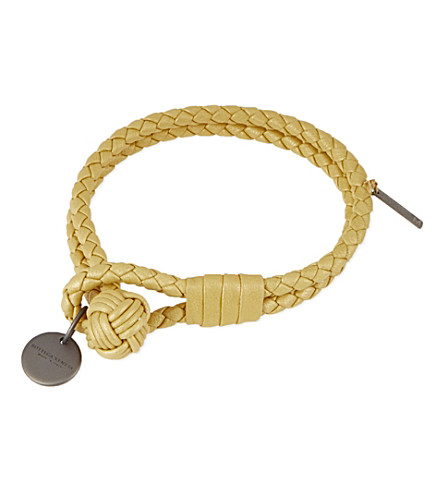BOTTEGA VENETA Intrecciato nappa-leather bracelet (Oro