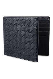 BOTTEGA VENETA Black prusse billfold wallet