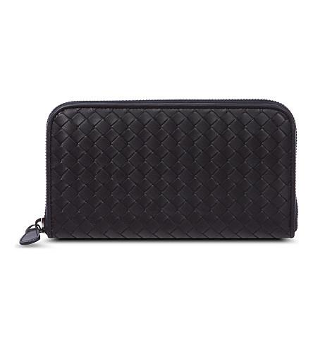 BOTTEGA VENETA Intrecciato leather zip-around wallet (Tourmaline