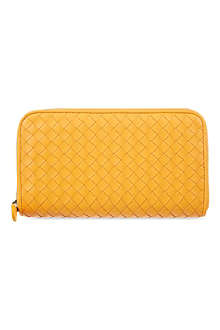 BOTTEGA VENETA Woven zip-around wallet