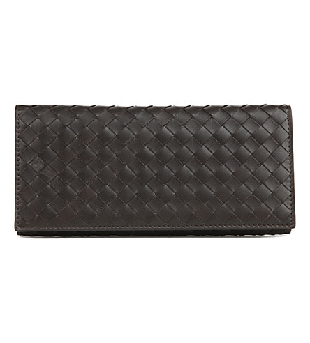 BOTTEGA VENETA Intrecciato leather wallet (Espresso