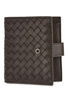 BOTTEGA VENETA Woven leather billfold wallet