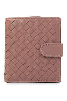 BOTTEGA VENETA Woven leather French purse