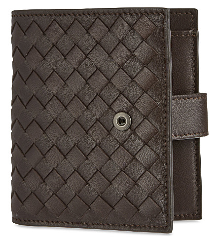 BOTTEGA VENETA Intrecciato French wallet (Ebano