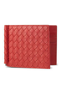 BOTTEGA VENETA Woven leather moneyclip