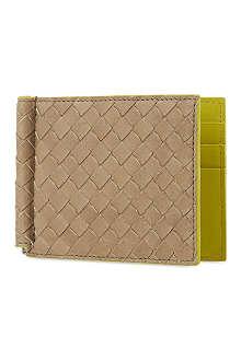 BOTTEGA VENETA Woven leather moneyclip