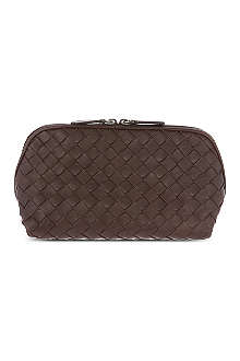 BOTTEGA VENETA Woven leather cosmetic case