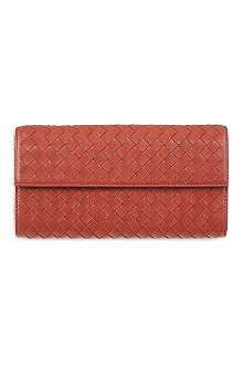 BOTTEGA VENETA Woven continental wallet