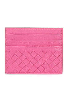 BOTTEGA VENETA Woven leather card holder