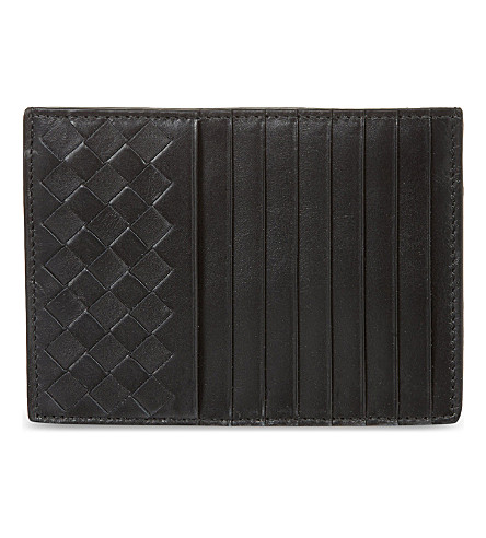 BOTTEGA VENETA Intrecciato long card holder (Nero