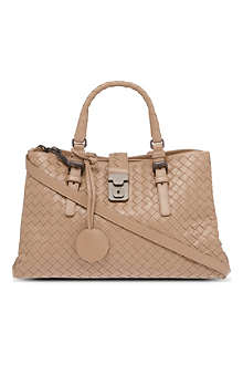 BOTTEGA VENETA Medium woven leather Roma tote