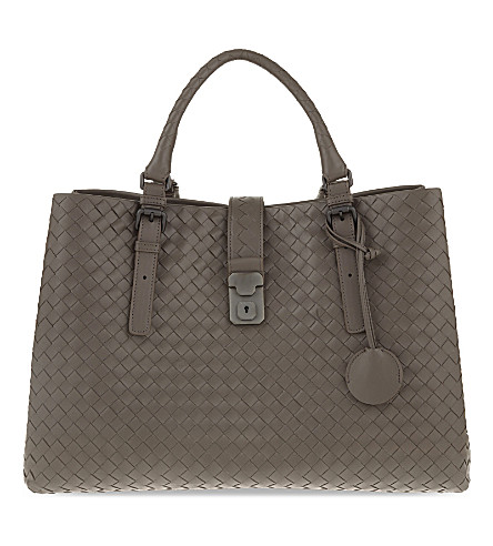 BOTTEGA VENETA Roma Intrecciato leather tote (Steel+new