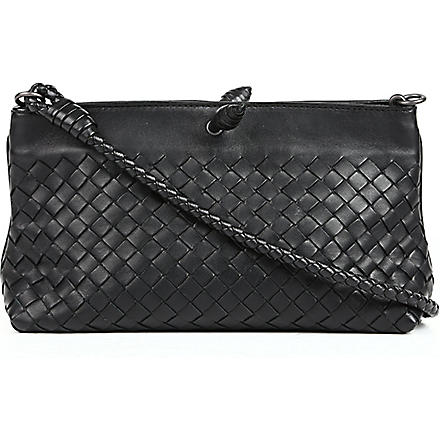 BOTTEGA VENETA Intrecciato woven-leather bag (Nero
