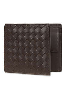 BOTTEGA VENETA Intrecciato leather coin wallet