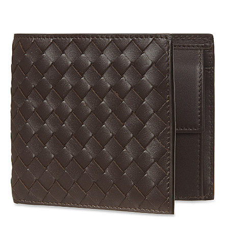 BOTTEGA VENETA Intrecciato leather coin wallet (Espresso