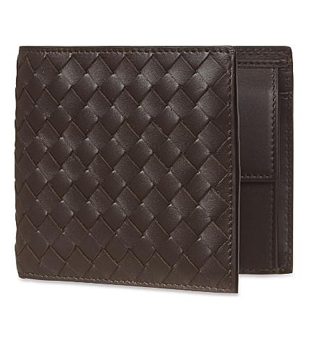 BOTTEGA VENETA Intrecciato leather coin wallet (Espresso