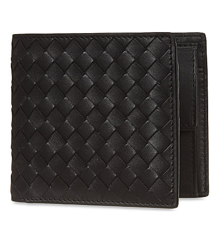 BOTTEGA VENETA Intrecciato leather coin wallet (Nero
