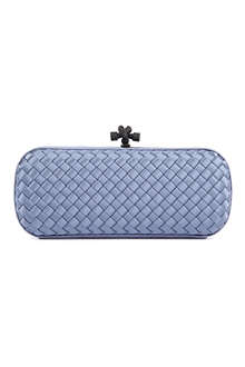 BOTTEGA VENETA Stretch Knot intrecciato satin clutch