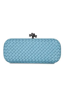 BOTTEGA VENETA Woven satin clutch