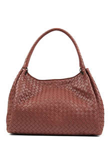 BOTTEGA VENETA Parachute leather shoulder bag