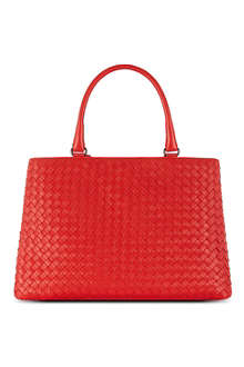 BOTTEGA VENETA Milano intrecciato leather tote