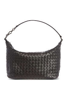 BOTTEGA VENETA Woven leather shoulder bag