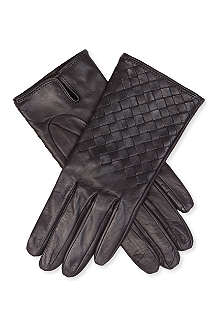 BOTTEGA VENETA Woven leather gloves