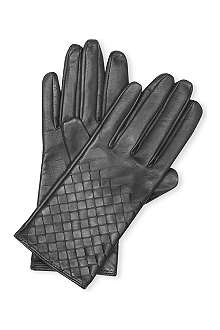 BOTTEGA VENETA Nappa quilted gloves