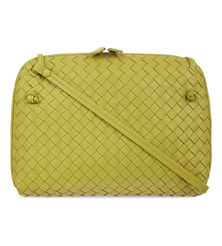 BOTTEGA VENETA Ciel Intrecciato leather small cross-body bag (Ancient+gold