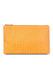 BOTTEGA VENETA Woven leather pouch