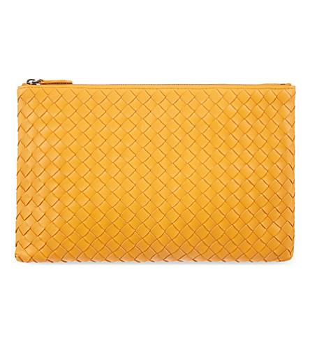 BOTTEGA VENETA Intrecciato leather pouch (Sun