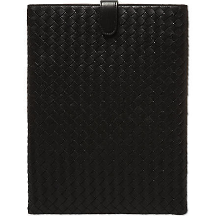 BOTTEGA VENETA Woven iPad case (Black