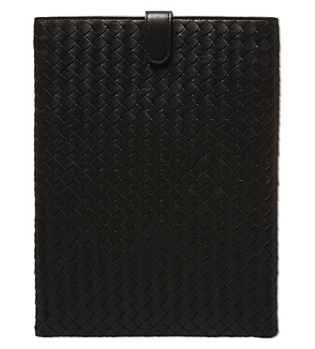 BOTTEGA VENETA Woven iPad case (Black