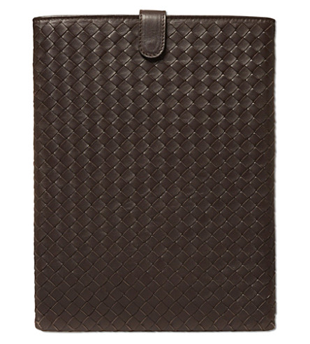 BOTTEGA VENETA Woven iPad case (Chocolate