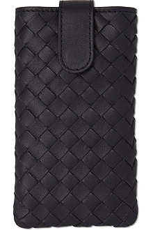 BOTTEGA VENETA Nero Intrecciato Nappa iphone case