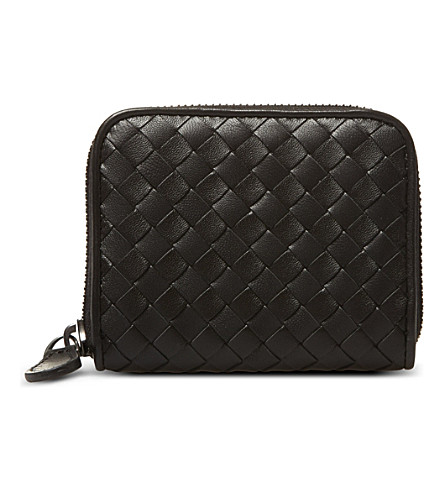 BOTTEGA VENETA Nero Intrecciato Nappa coin purse (Nero