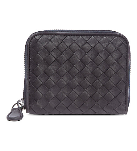 BOTTEGA VENETA Intrecciato leather coin purse (Tourmaline