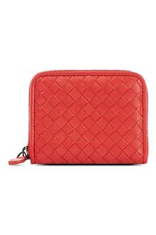 BOTTEGA VENETA Woven leather coin purse