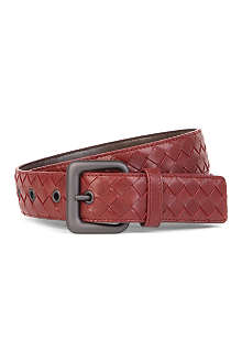 BOTTEGA VENETA Woven leather intrecciato belt