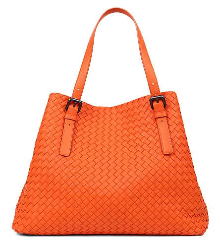 BOTTEGA VENETA Intrecciato leather large tote (Tangerine