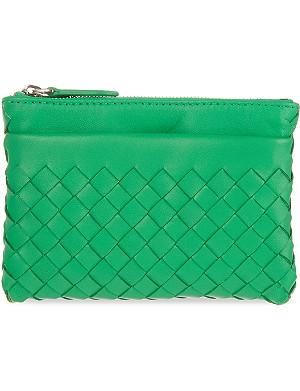 BOTTEGA VENETA Intrecciato Nappa leather keyring pouch