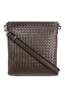 BOTTEGA VENETA Woven leather across body bag