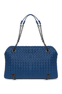 BOTTEGA VENETA Chain handle woven shoulder bag