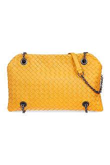 BOTTEGA VENETA Chain handle woven shoulder bag